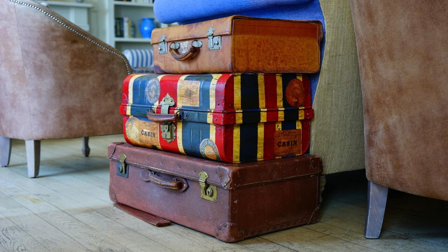 stacks of luggages