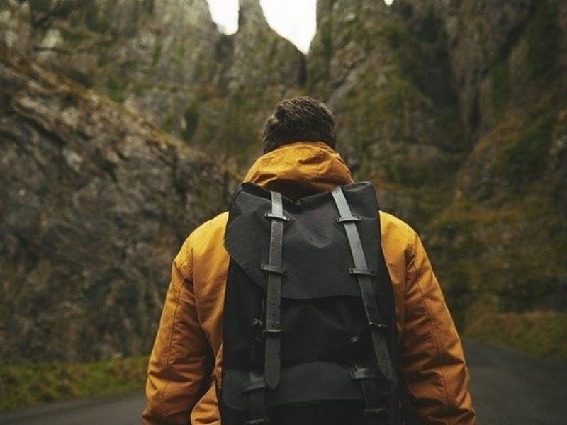 traveller with backpack